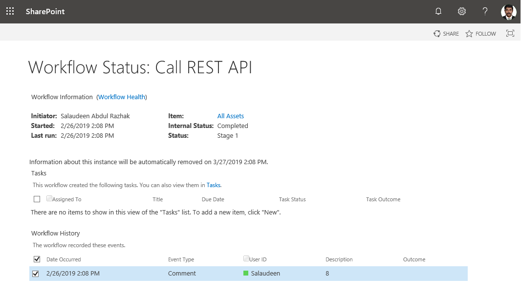 call rest api in sharepoint designer workflow