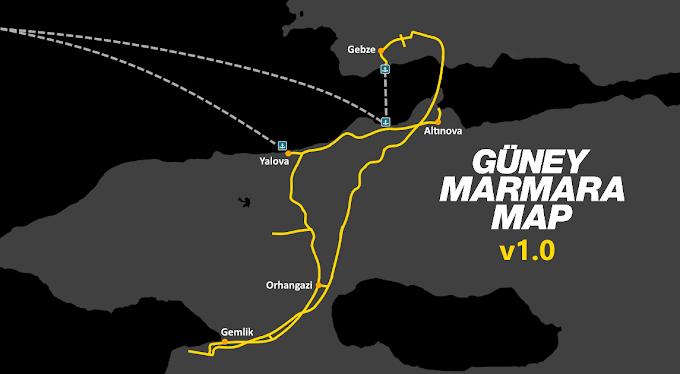 ETS 2 - Güney Marmara Map Türkiye Modu (1.40)