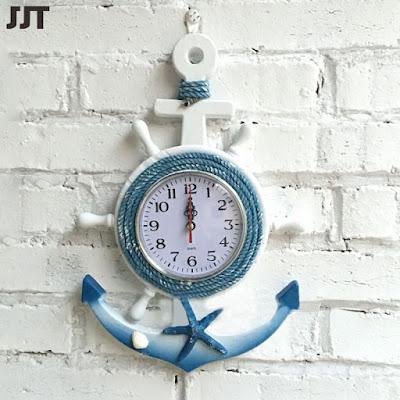 Настенные часы с якорем