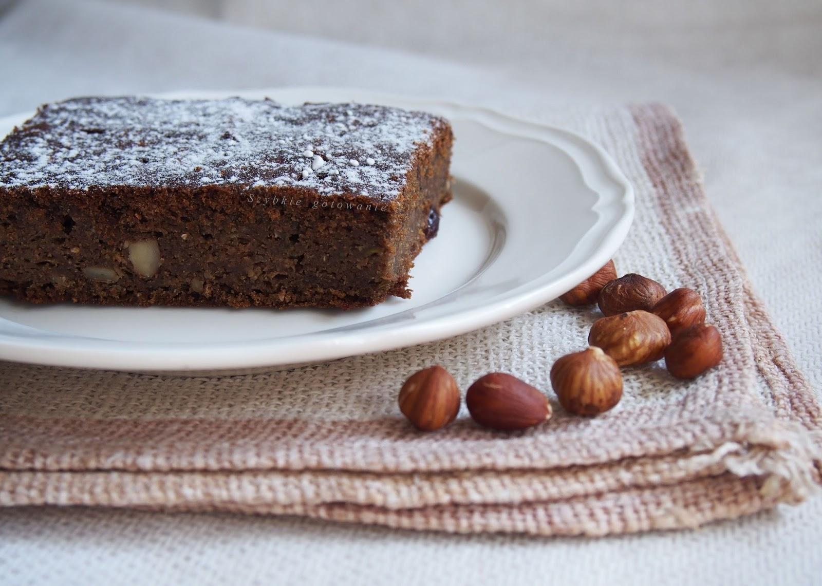 Cukiniowe brownie bez glutenu i nabiału, wegańskie