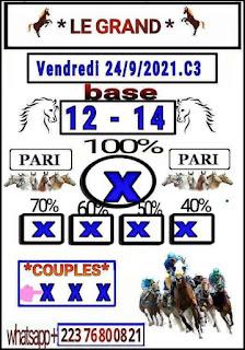 Pronostics quinté pmu vendredi Paris-Turf-100 % 24/09/2021