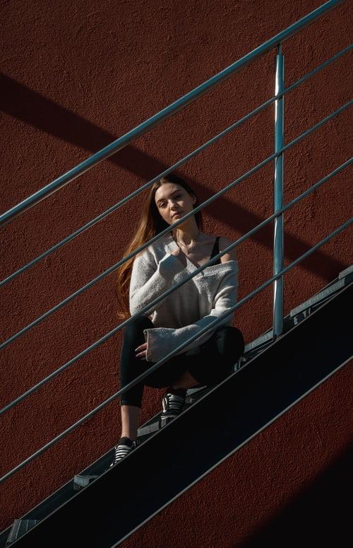 staircase photoshoot