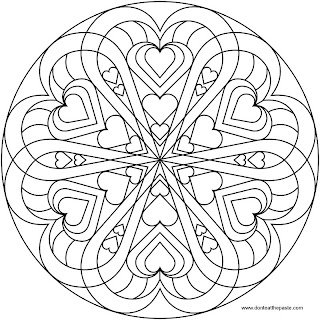 Heart mandala to color- jpg version