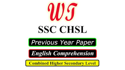 SSC CHSL Previous Year English Comprehension Question PDF Download