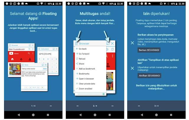 cara menjalankan dua aplikasi sekaligus android