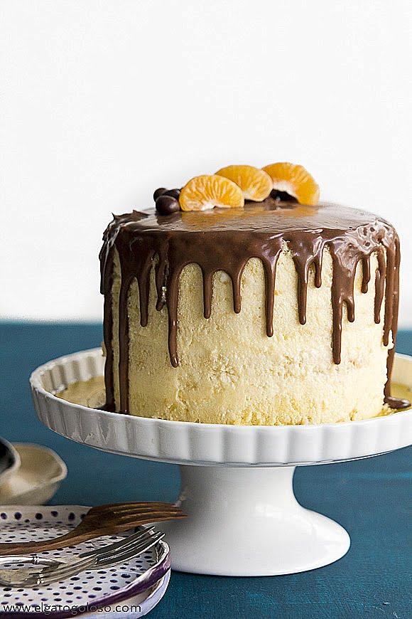 El gato goloso: Citrus Leyer Chiffon Cake