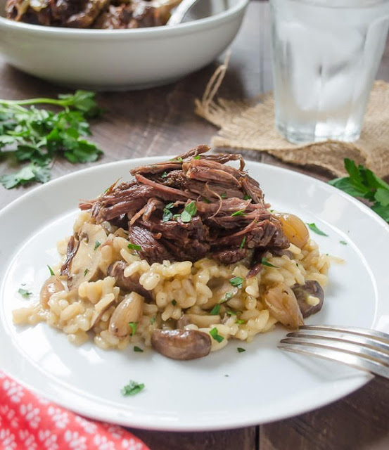 Beef Short Ribs with Mushroom Risotto | Flavor the Moments