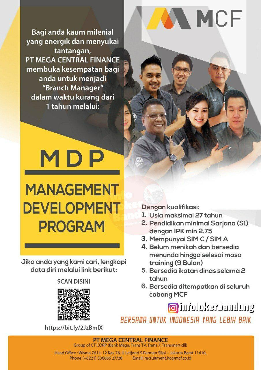 Lowongan Kerja Management Development Program PT. Mega Central Finance Bandung Juni 2019