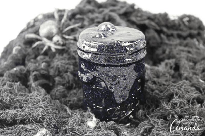 black glitter slime