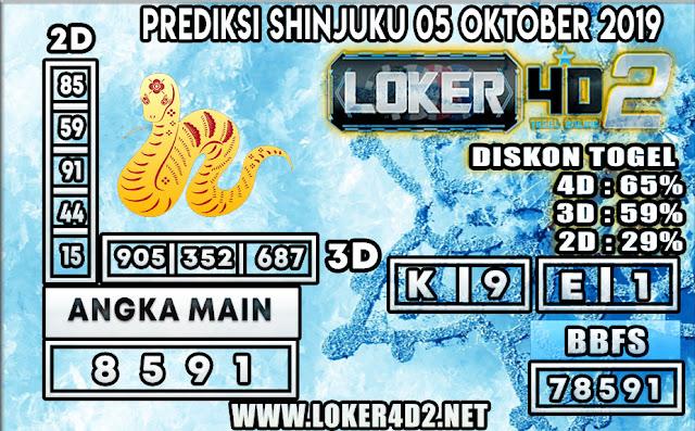 PREDIKSI TOGEL SHINJUKU POOLS LOKER4D2 05 OKTOBER 2019