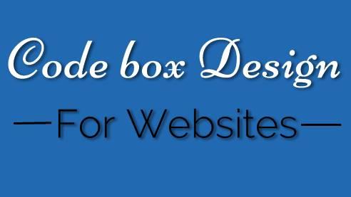 Best Code Box Design for Websites