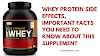 WHEY PROTEIN SIDE EFFECTS, IMPORTANT FACTS YOU NEED TO KNOW ABOUT THIS SUPPLEMENT