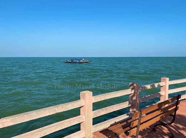 The view of Chilika from Kalijai Temple