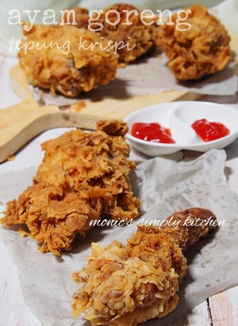 Cara Membuat Ayam Kentucky : membuat, kentucky, Goreng, Tepung, Krispi, Monic's, Simply, Kitchen