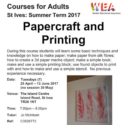 Papercraft and Printing at The Island Centre