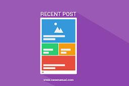 Cara Membuat Widget Recent Post Slider di Blogger