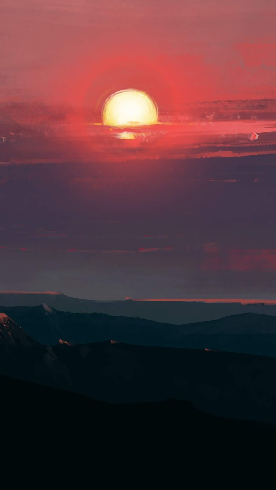 Mountains Sunset wallpaper android