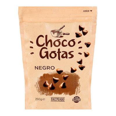 Gotas de chocolate negro para fundir Hacendado