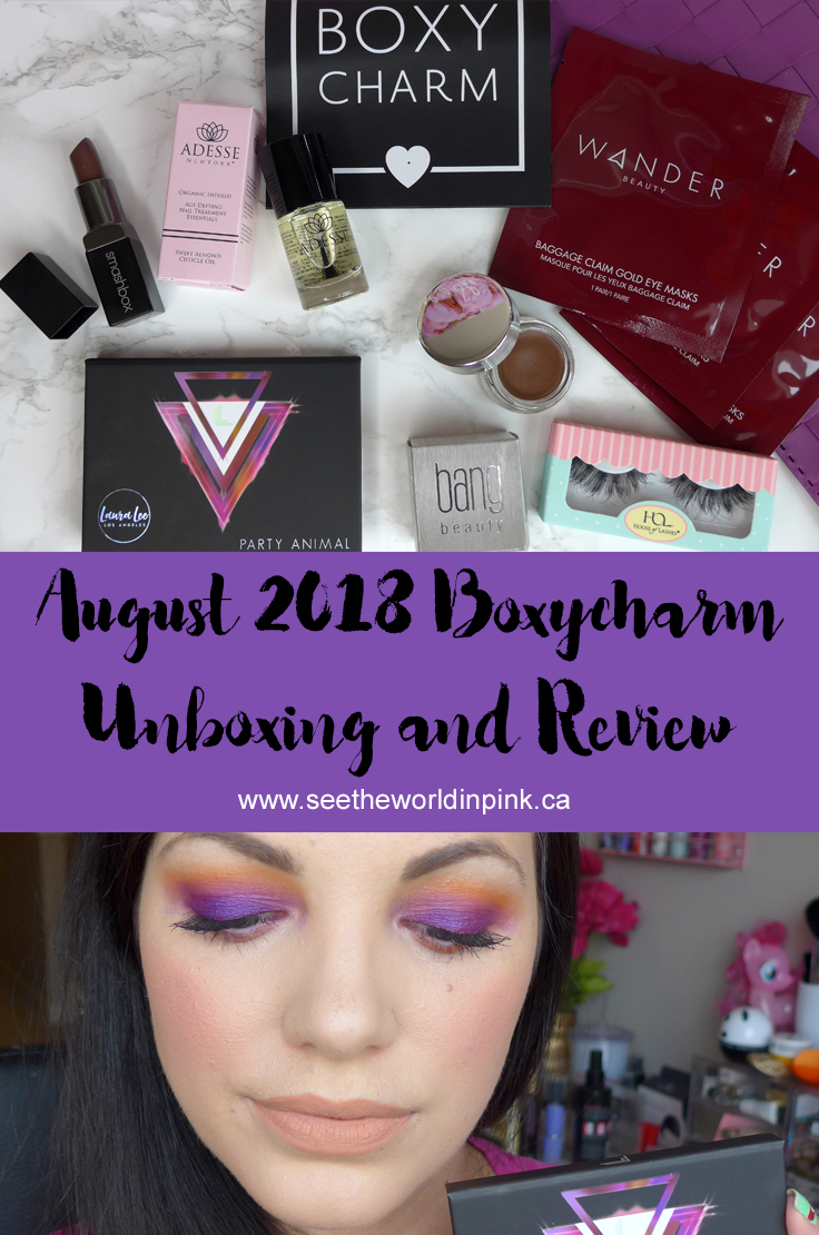 August 2018 Boxycharm - Unboxing and Review