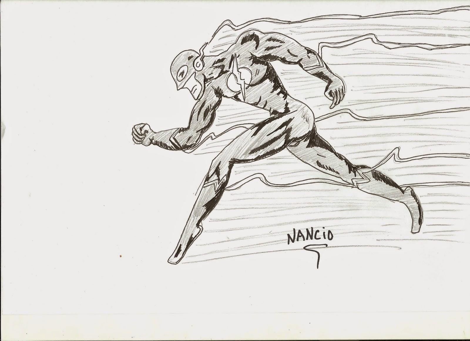 Dibujos De Nancio Flash En Lapiz Y Rotring