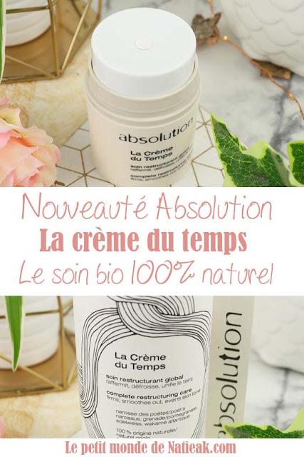 La crème du Temps bio  avis soin Made in France