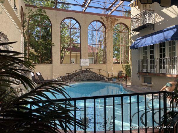 indoor pool at Hotel Paisano in Marfa, Texas