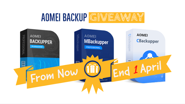 AOMEI 2021 Backup Giveaway For PC, iPhone and Cloud Backup