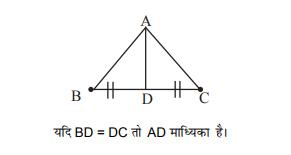 त्रिभुज की माध्यिका (Median of a Triangle)
