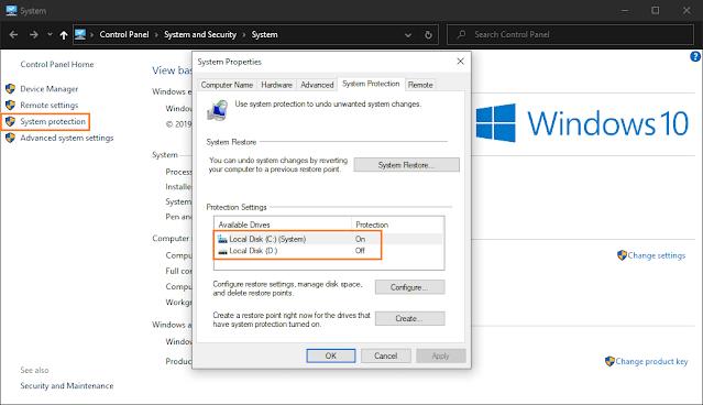 Memulihkan Windows yang Rusak dengan System Restore Point