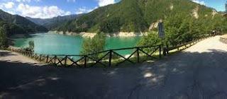 La diga di Ridracoli nel Parco nazionale delle foreste Casentinesi