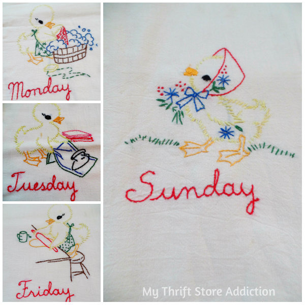 Friday's Find #138 mythriftstoreaddiction.com Vintage linens from First Monday in Canton, Texas