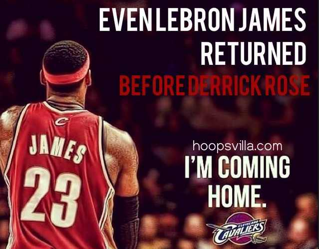 Lebron james vs derrick rose the return meme