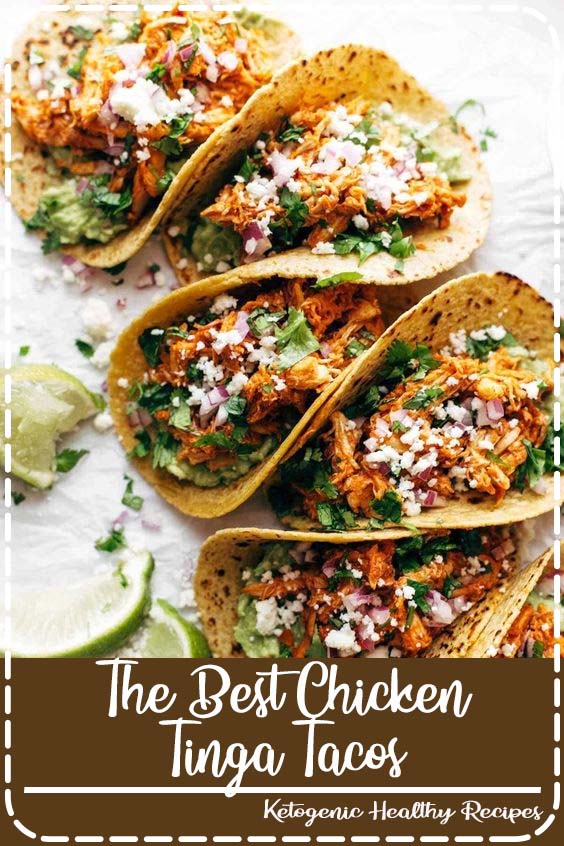 Includes directions for the Instant Pot The Best Chicken Tinga Tacos