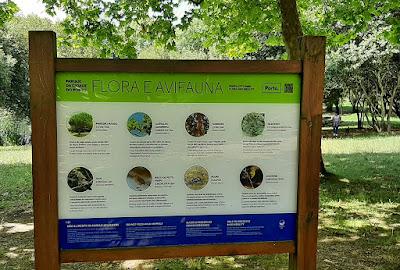 placa indicativa de Flora e Fauna