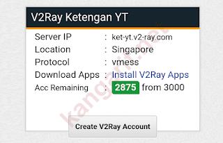 klik create v2ray account