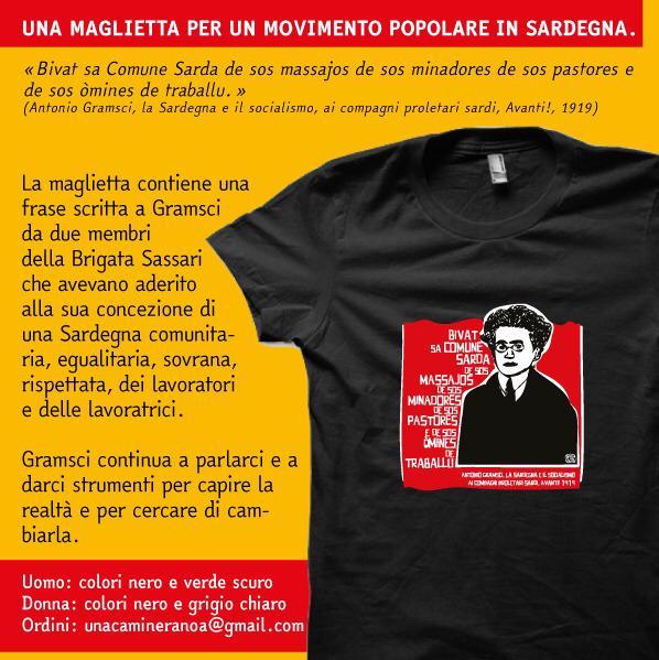 Una maglietta per un Movimento popolare in Sardegna
