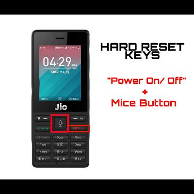 Jio F41t Hard Reset