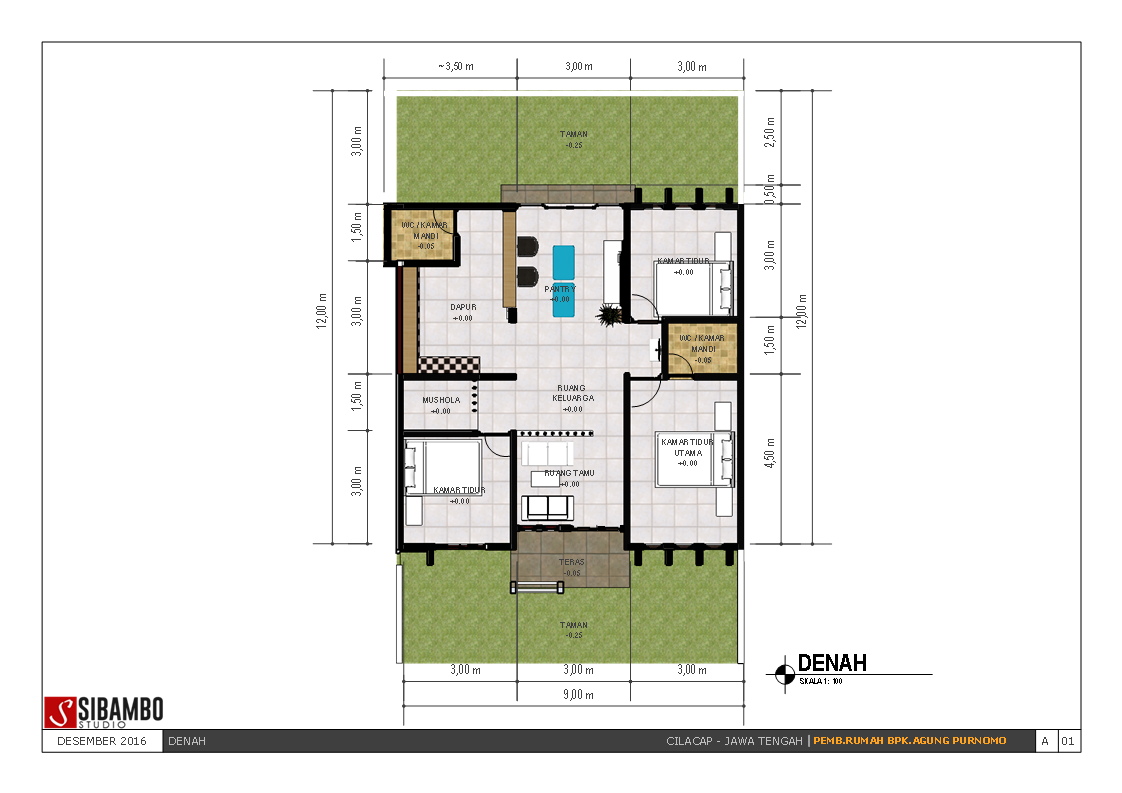 Rumah Minimalis Satu Lantai Di Lahan 9x12 M Bpk Agung CIlacap