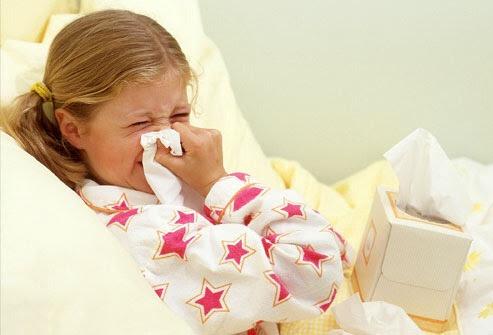 علاج الأنفلوانزا عند الأطفال في البيت