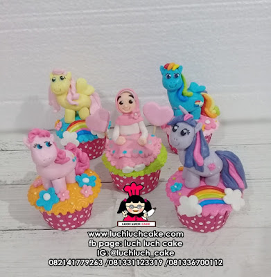 Cupcake Fondant 3d My Little Pony