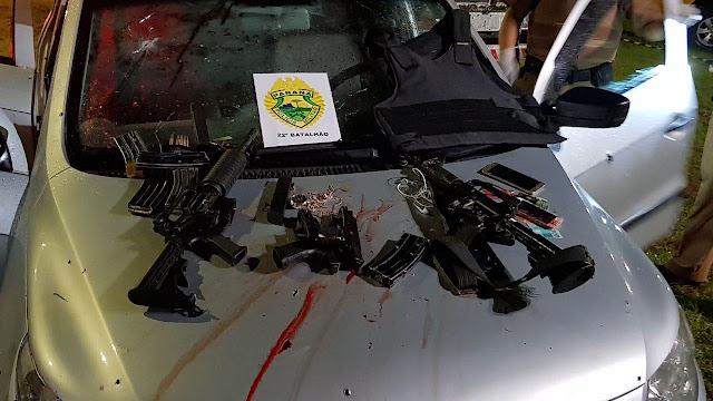 Bandidos fortemente armados de fuzis enfrentam ROTAM; cinco morreram no município de Quatro Barras, na Região Metropolitana de Curitiba