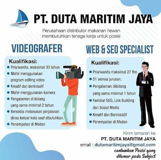 Videografer dan web seo specialist di PT Duta Maritim Jaya