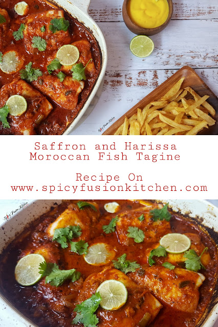Saffron and Harissa Moroccan Fish Tagine, saffron, harissa, moroccan fish, tagine, hake fillet, food, food pictures, spicy food, recipe, spicy fusion kitchen, pinterest food, moroccan tagine, food blog, food photography