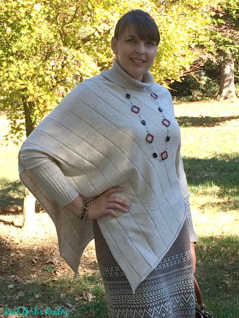 This poncho from Aventura Clothing is one of the hottest fall fashion trends and it can be dressed up or down.