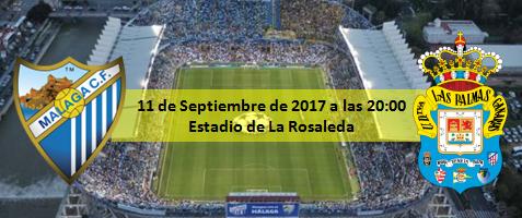 Pevia Málaga CF- UD Las Palmas 11 Septiembre a las 20:00