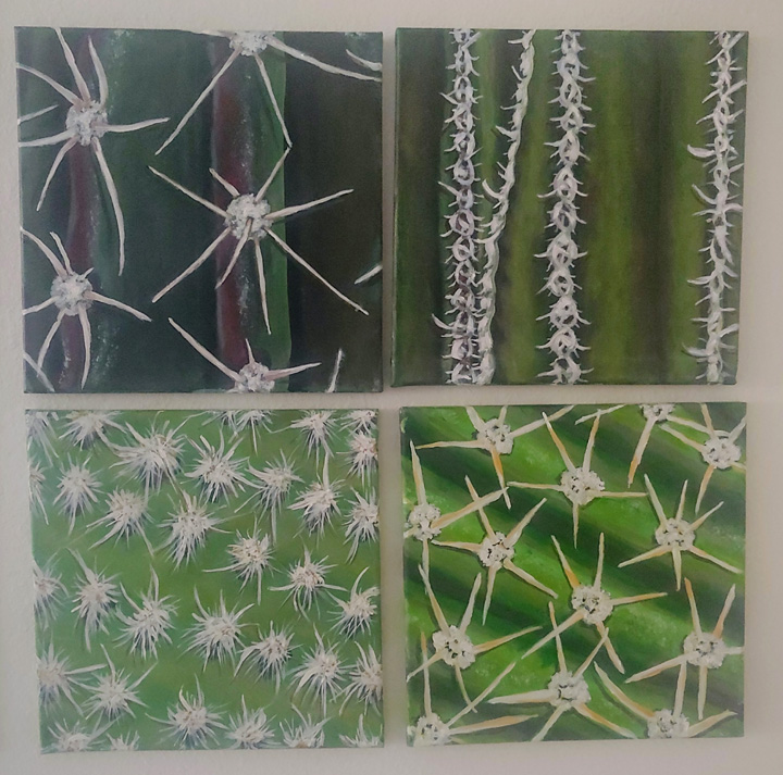 """Cacti Study"" by Sharon Day $100"
