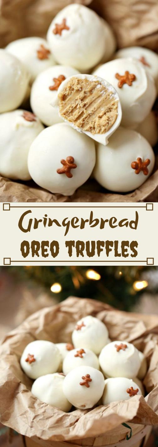 GINGERBREAD OREO TRUFFLES #desserts #oreo #bars #truffles #easy