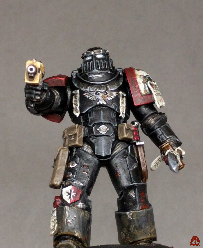 Between the Bolter and Me: True-scale Black Templar Space Marine