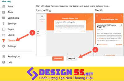 Hướng dẫn thay ảnh cho theme blogger đơn giản
