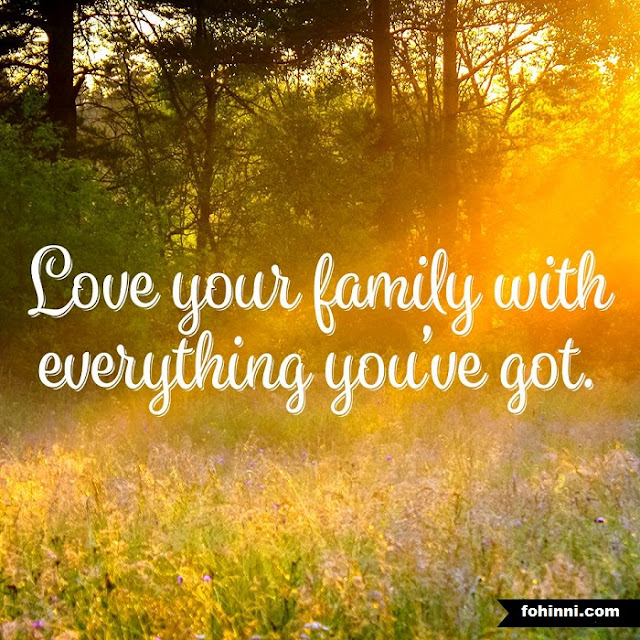 LOVE YOUR FAMILY WITH EVERYTHING YOU HAVE GOT.
